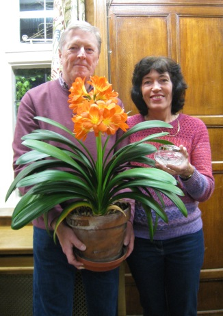 Hugh Parson won Best in Show for his pot-grown Clivia