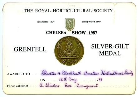 87 Windowbox medal